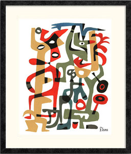 Abstract Tangle 2 | Jim Flora | Ebony frame
