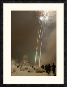 Arctic New Year's Eve | Lene Foss | Ebony frame