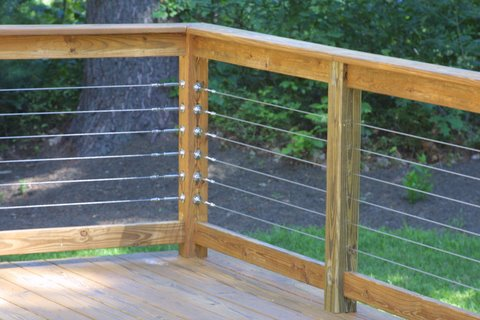 Cable Railings With Wood Frame W Tbp C