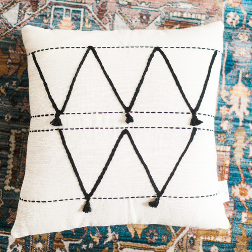 Tunisian Cushion - Atlas.  Price Includes Shipping!