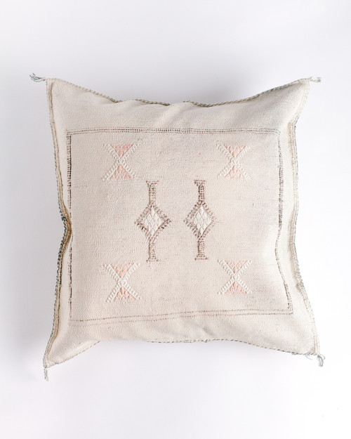 Cactus Silk Cushion - Cream                               FREE SHIPPING