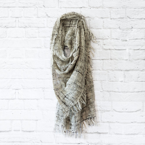 Open Weave Shawl - Grey                                                Free Shipping