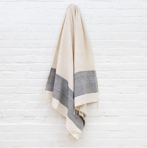 Riviera Towel+Wrap - Navy                                                    Free Shipping