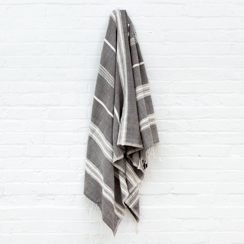 Aden Towel+Wrap - Grey with Natural -       Free Shipping!