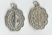 Medium Saint Benedict Medal with Unique Antique Scrollwork