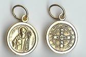 GOLD TONE Saint Benedict Medal