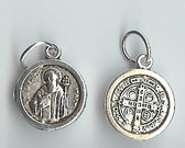 SILVER TONE Saint Benedict Medal