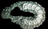 "SILVER PLATED Saint Benedict 7"" Bracelet"