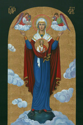 "The Most Exquisite, Museum Quality, Fine Art Giclée Icon of ""THE IMMACULATE CONCEPTION""©: The Third Marian Dogma! on the finest canvas!  AT A GREAT DISCOUNT!  with FREE SHIPPING!!!"