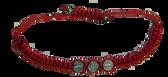 3 Medal Inset Red Cord Saint Benedict Bracelet