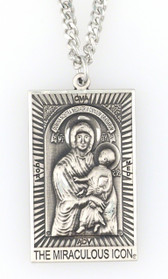 Mary Mediatrix Two-Sided, Antique Silver, All-Protecting Icon Medal© AT A GREAT DISCOUNT - WITH FREE SHIPPING!