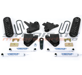 "FABTECH - 1999-00 Ford F250/F350 W/ Gas 2WD 4"" Basic System W/ Performance Shocks -  K2093"