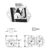 STEEL CABINET LOCK DRAWER LOCK OHS#5751-1