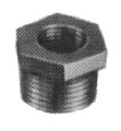 BUSHING HEXAGON MALLEABLE CAST IRON GALV 1/4X1/8