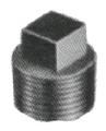 PLUG SQUARE HEAD MALLEABLE CAST IRON GALV 1/4
