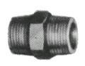 NIPPLE HEXAGON MALLEABLE CAST IRON GALV 3/8