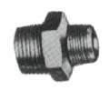 NIPPLE HEXAGON REDUCING STEEL THREADED 1/4X1/8 F/H.P. PIPE