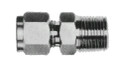 CONNECTOR MALE STAINLESS STEEL FLARELESS 8MMXPT1/4