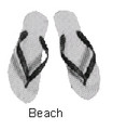 SANDALS BEACH SIZE-M