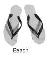 SANDALS BEACH SIZE-L