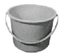 BUCKET STAINLESS STEEL 10LTR