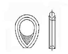 HAWSER THIMBLE W/TRIANGLEPLATE UNGALV. FOR 75MM DIA ROPE