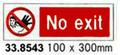 SIGN WHITE VINYL SELF ADHESIVE #8543 100X300MM
