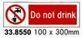 SIGN WHITE VINYL SELF ADHESIVE #8550 100X300MM