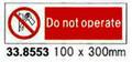 SIGN WHITE VINYL SELF ADHESIVE #8553 100X300MM