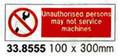 SIGN WHITE VINYL SELF ADHESIVE #8555 100X300MM