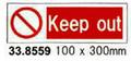 SIGN WHITE VINYL SELF ADHESIVE #8559 100X300MM