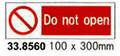 SIGN WHITE VINYL SELF ADHESIVE #8560 100X300MM