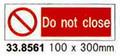 SIGN WHITE VINYL SELF ADHESIVE #8561 100X300MM
