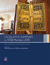 Legislative Summary for TASB Members 2015 cover