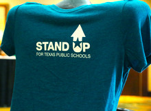 Stand Up t-shirt in heathered teal