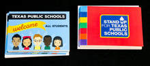Texas Public Schools Welcome All Students note cards with envelopes