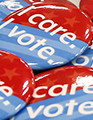 I Care I Vote button pack of 4 (Taxable)