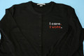 I Care. I Vote. ladies cardigan in black