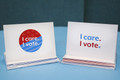 I Care. I Vote. notecard set