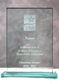 Customized Award: Beveled Glass Block (Taxable)