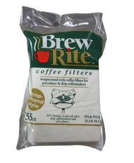 Brew Rite 41-551 Coffeemaker Paper Filters 55 Count