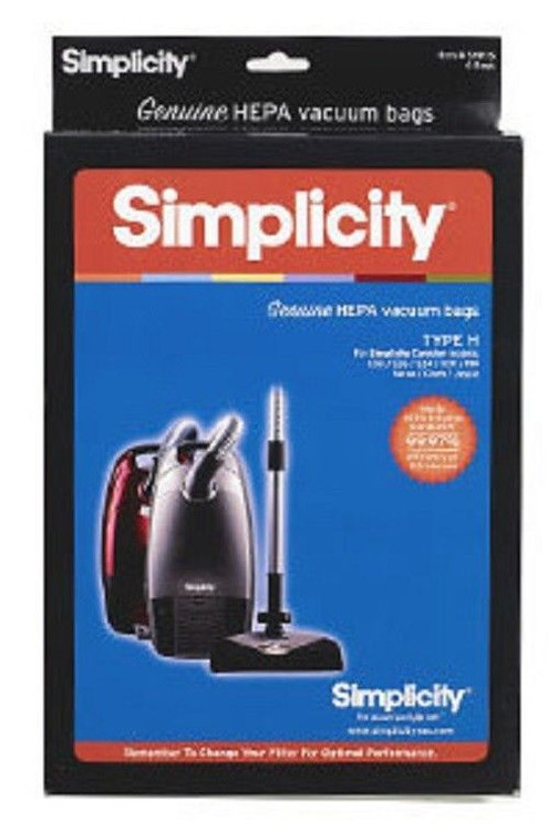 Simplicity Hepa Shh 6 Canister Type H Vacuum Bags Marbeck