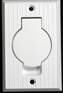 Central Vacuum Inlet Valve With Round Door White