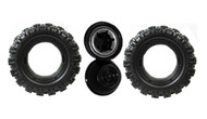 Power Wheels J4394 Blue Jeep Hurricane Tire Wheel, 2 pack