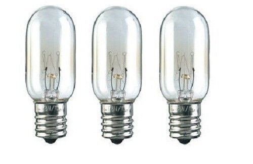 (3 pack) Microwave Light Bulb - 40 watt T8 for GE WB36x10003