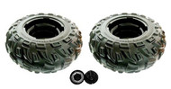 (2) Power Wheels Kawasaki Brute Force Rear Tires Set J5248-2359