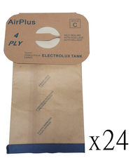 (24) Style C- 4 Ply Vacuum Bags for Electrolux Canister Vac