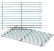"BBQ Grill Weber Grill 2 Piece Stainless Steel Grate 17-1/4"" X 23-1/2"" 65619"