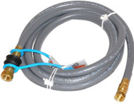"Weber 10' By 3/8"" Id Stripwound Hose Natural Gas Hose Kit with Quick Connect Fitting"