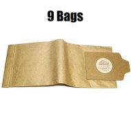 (9) Euro-Pro, Shark EP704, 704H Upright Vacuum Cleaner Paper Bags XSG704 Genuine